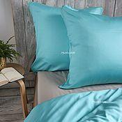 Для дома и интерьера handmade. Livemaster - original item Turquoise bedding set. Handmade.