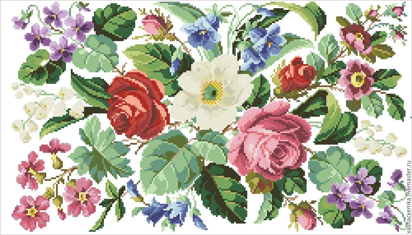 Схемы для цветов ретро