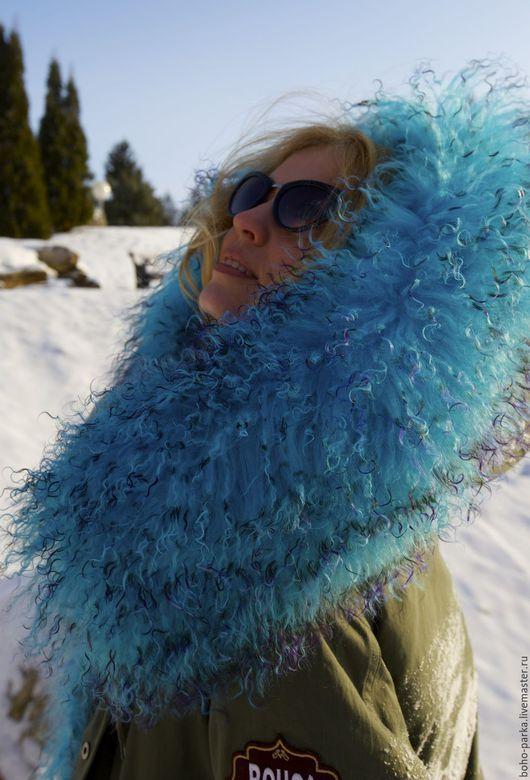 Верхняя одежда ручной работы. Ярмарка Мастеров - ручная работа. Купить Куртка парка на меховой подстежке с капюшоном (евро-зима). Handmade.