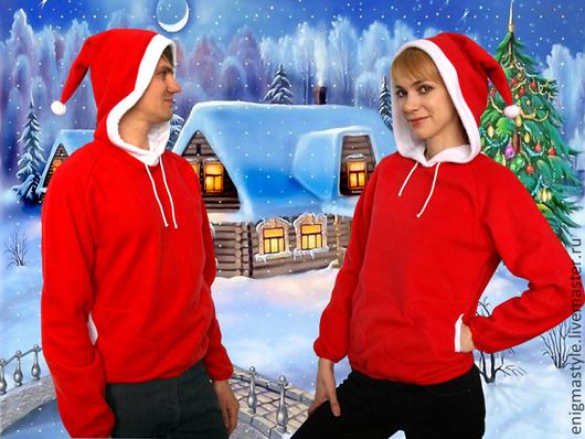 Кофты и свитера ручной работы. Ярмарка Мастеров - ручная работа. Купить Толстовка Санта. Handmade. Ярко-красный, карнавальный костюм