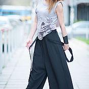 Одежда handmade. Livemaster - original item Black pants with straps. Handmade.
