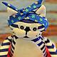 Игрушки животные, ручной работы. Коты Моряки. Куклы и игрушки  (loskytistorii). Интернет-магазин Ярмарка Мастеров. Кот, кот в подарок