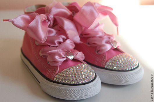 Детская обувь ручной работы. Ярмарка Мастеров - ручная работа. Купить Розовые с переливом. Handmade. Розовый, акция, распродажа