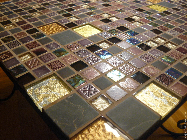 Мозаика на мебели своими руками фото
