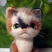 Куклы и игрушки handmade. Livemaster - original item Cat tri-color, for good luck. Handmade.