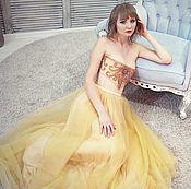 Одежда ручной работы. Ярмарка Мастеров - ручная работа Платье на базе корсета с люневильской вышивкой. Handmade.