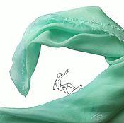 Аксессуары ручной работы. Ярмарка Мастеров - ручная работа Платок Волна шелковый мятный цвет. Handmade.