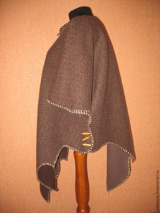 Большие размеры ручной работы. Ярмарка Мастеров - ручная работа. Купить Кардиган из буклированной шерсти.Кардиган коричневый,Кардиган тёплый.. Handmade.