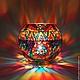 Candlestick 'Kaleidoscope'. Stained glass painting, Candlesticks, Velikiy Novgorod,  Фото №1