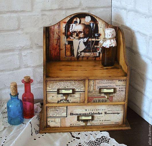 """Мини-комоды ручной работы. Ярмарка Мастеров - ручная работа. Купить """"В поисках святого грааля"""" аптечный шкафчик. Handmade."""