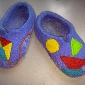 Работы для детей, ручной работы. Ярмарка Мастеров - ручная работа Валяные тапки Для мальчика. Handmade.