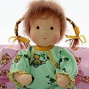 Куклы и игрушки ручной работы. Ярмарка Мастеров - ручная работа Беби с косичками, вальдорфская кукла , 34см. Handmade.