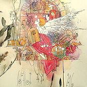 """Картины и панно ручной работы. Ярмарка Мастеров - ручная работа """"Предчувствие...  """". Handmade."""