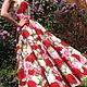Вариант платья - длинное солнце Ткань - яркие розы