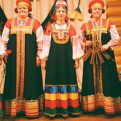 Народные костюмы ручной работы. Ярмарка Мастеров - ручная работа Русские костюмы в фольклорном стиле. Handmade.