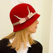 Аксессуары handmade. Livemaster - original item Hat Cloche Bordeaux. Handmade.