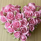 Цветы и флористика handmade. Livemaster - original item Heart of roses. Handmade.