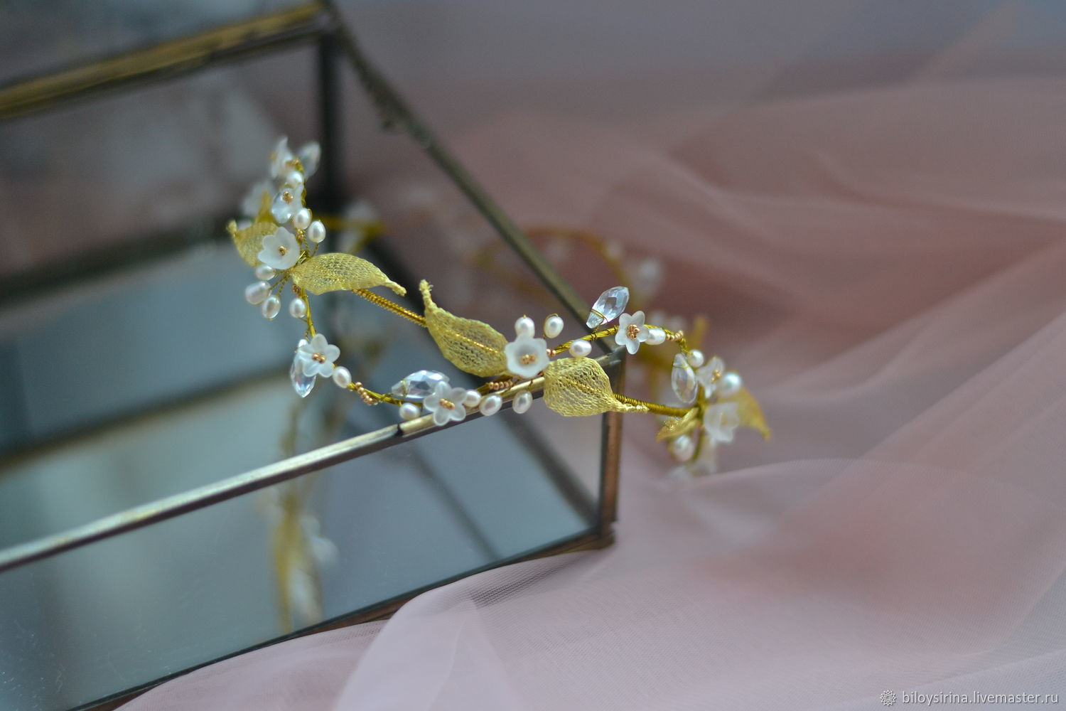 Delicate tiara with pearls 'Grace', Tiaras, St. Petersburg,  Фото №1