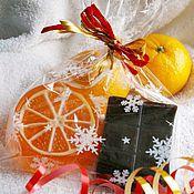 Подарки к праздникам ручной работы. Ярмарка Мастеров - ручная работа Набор мыла Шоколад и мандарин в подарочной упаковке. Handmade.