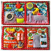 """Куклы и игрушки handmade. Livemaster - original item Развивающая книжка-игрушка """"Кукольный домик"""". Handmade."""