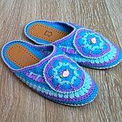 Обувь ручной работы handmade. Livemaster - original item KNITTED Slippers flip-flops. Handmade.