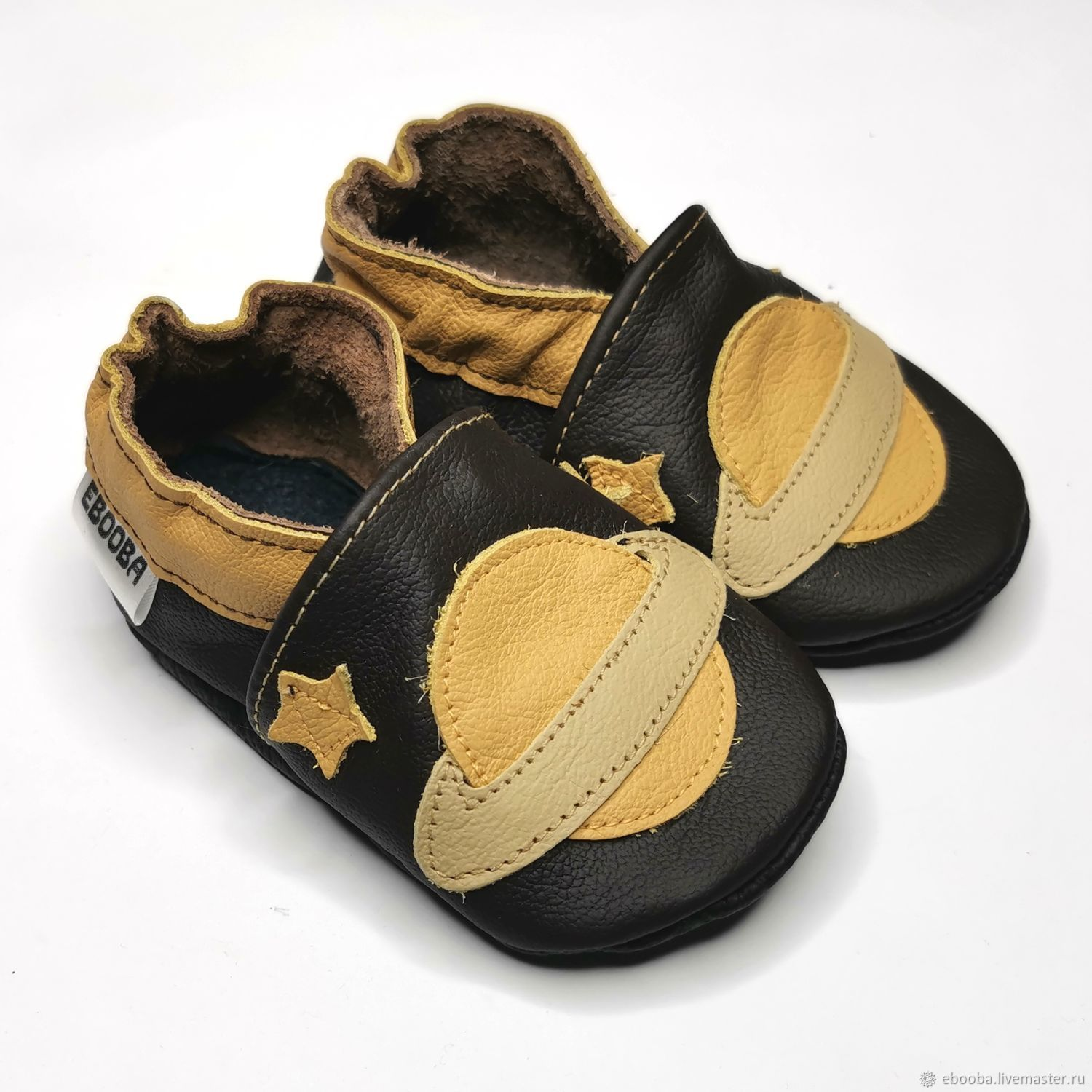 Baby Shoes Space, Leather Baby Slippers,  Saturn Baby Shoes, Footwear for childrens, Kharkiv,  Фото №1