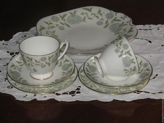 """Винтажная посуда. Ярмарка Мастеров - ручная работа. Купить фарфоровый чайный сервиз на две персоны """"Вальс цветов"""". Handmade. Фарфор"""