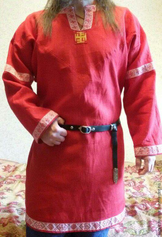 Одежда ручной работы. Ярмарка Мастеров - ручная работа. Купить Рубашка мужская нарядная. Handmade. Славянская одежда, славянский стиль