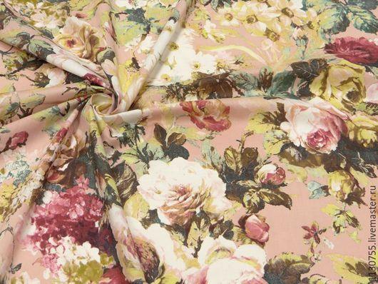 Шитье ручной работы. Ярмарка Мастеров - ручная работа. Купить Ткань хлопок  стрейч  Цветы , цветы 2 вида. Handmade.