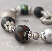 Украшения handmade. Livemaster - original item bracelet with lampwork beads