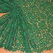 """Кружево ручной работы. Ярмарка Мастеров - ручная работа Кружево кордовое изумрудное дизайн """"Valentino"""". Handmade."""
