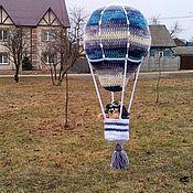 Для дома и интерьера ручной работы. Ярмарка Мастеров - ручная работа Воздушный шар с корзиной. Handmade.