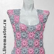Одежда ручной работы. Ярмарка Мастеров - ручная работа туника из хлопка Цветы. Handmade.