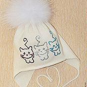 """Работы для детей, ручной работы. Ярмарка Мастеров - ручная работа Деми шапочка """"Озорные котята"""". Handmade."""