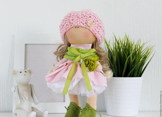 Коллекционные куклы ручной работы. Ярмарка Мастеров - ручная работа. Купить Малышка весна.. Handmade. Розовый, кукла в подарок, хлопок