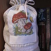 Для дома и интерьера ручной работы. Ярмарка Мастеров - ручная работа мешочек для хранения сухих грибов. Handmade.