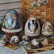 """Подарки к праздникам ручной работы. Ярмарка Мастеров - ручная работа Яйца-матрешки """"Мы ждем Пасху"""" 5 мест. Handmade."""
