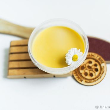 Косметика ручной работы. Ярмарка Мастеров - ручная работа Крем твердый для нежных пяточек масляный для ног желтый. Handmade.