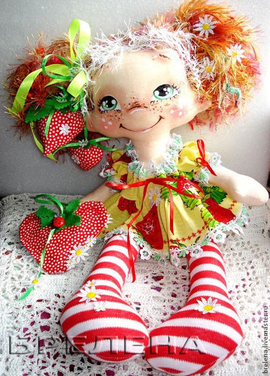 Сказочные персонажи ручной работы. Ярмарка Мастеров - ручная работа. Купить Кукла Ягодная девочка  - феечка лета.. Handmade. Рыжий