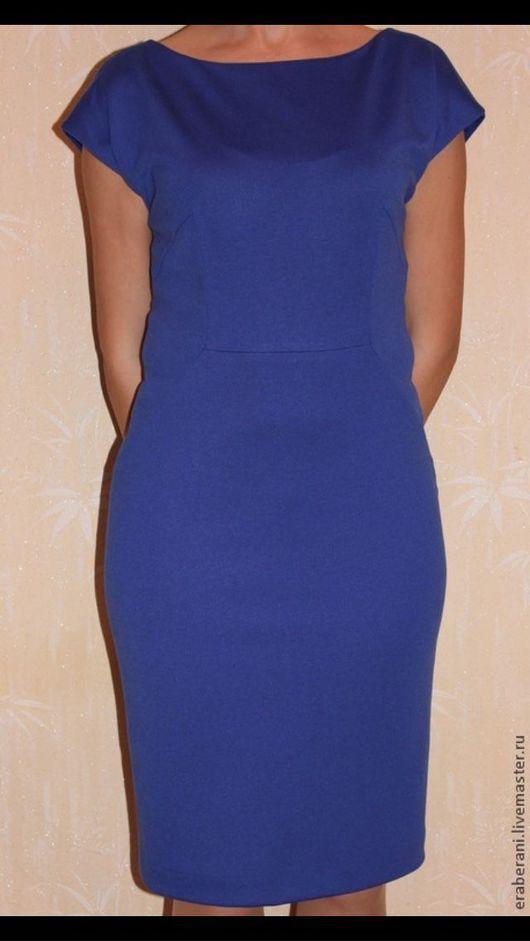 Платья ручной работы. Ярмарка Мастеров - ручная работа. Купить Платье из трикотажа синее. Handmade. Синий, платье повседневное