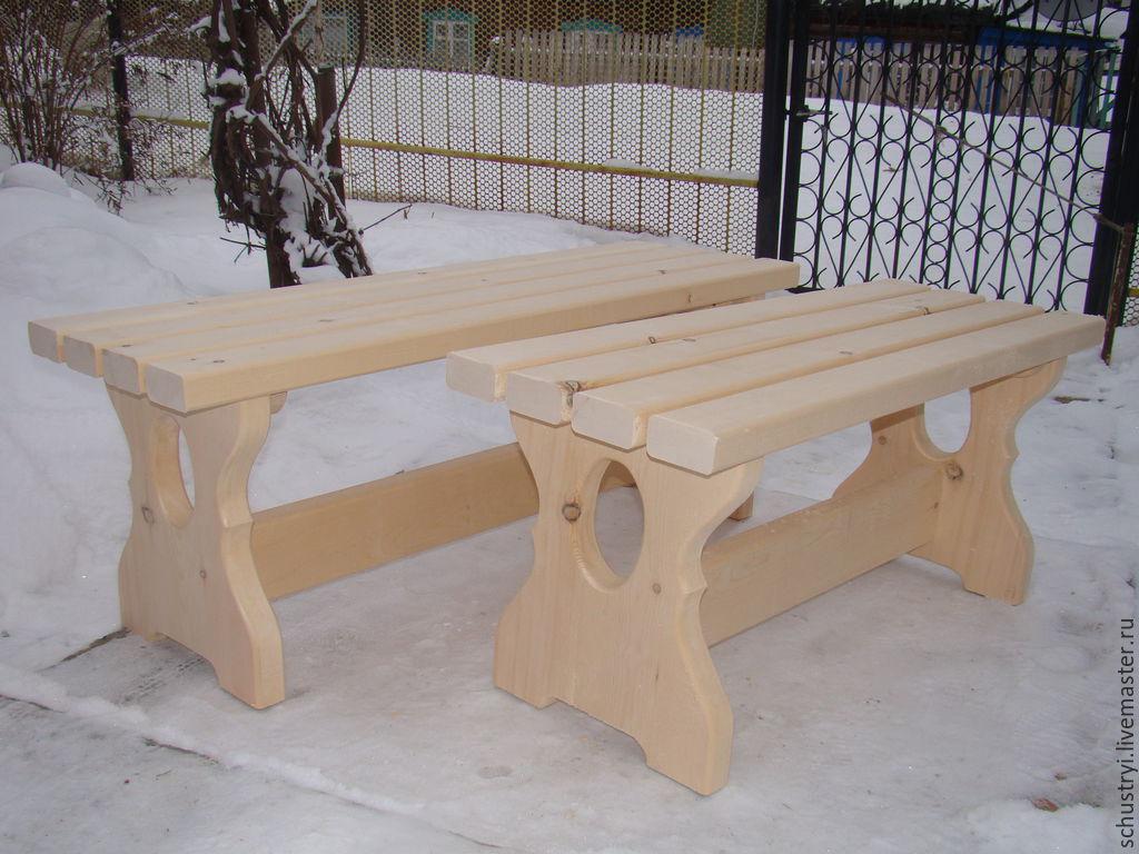 Банная скамейка из массива алтайского кедра, Стулья, Турочак, Фото №1