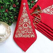 Подарки к праздникам handmade. Livemaster - original item Christmas Napkins with Embroidery