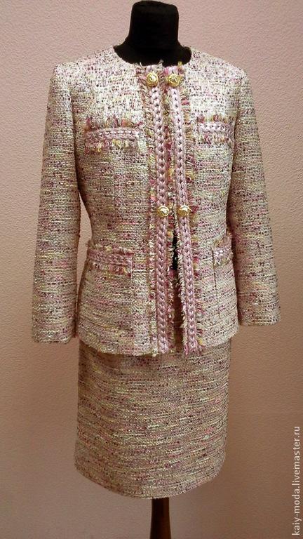 """Костюмы ручной работы. Ярмарка Мастеров - ручная работа. Купить Костюм """"В стиле Шанель"""" в розовых оттенках. Handmade. Розовый"""