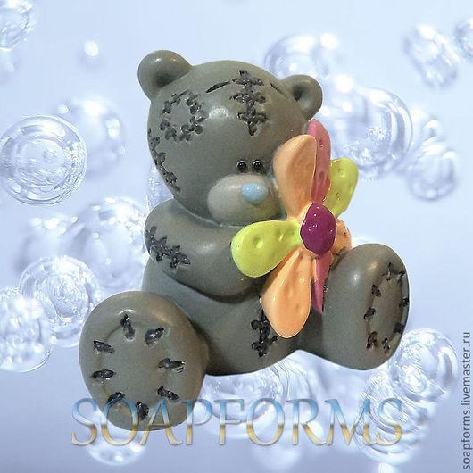 """Форма силиконовая для мыла """"Мишка с цветком"""" (ME TO YOU)"""