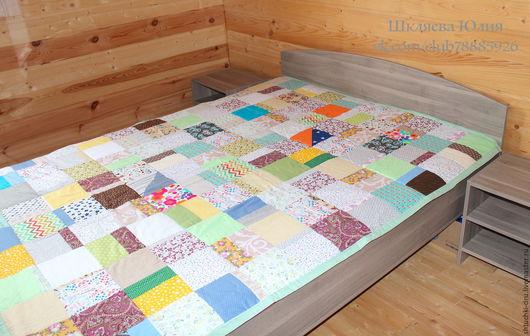Текстиль, ковры ручной работы. Ярмарка Мастеров - ручная работа. Купить Лоскутное покрывало. Handmade. Лоскутное одеяло, покрывало пэчворк