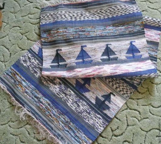Текстиль, ковры ручной работы. Ярмарка Мастеров - ручная работа. Купить половик. Handmade. Комбинированный, ручное ткачество, для бани