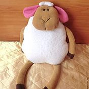 """Для дома и интерьера ручной работы. Ярмарка Мастеров - ручная работа Подушка-игрушка """"Милая овечка"""". Handmade."""