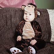 Работы для детей, ручной работы. Ярмарка Мастеров - ручная работа Карнавальный новогодний костюм Обезьянки для малышей и детей. Handmade.