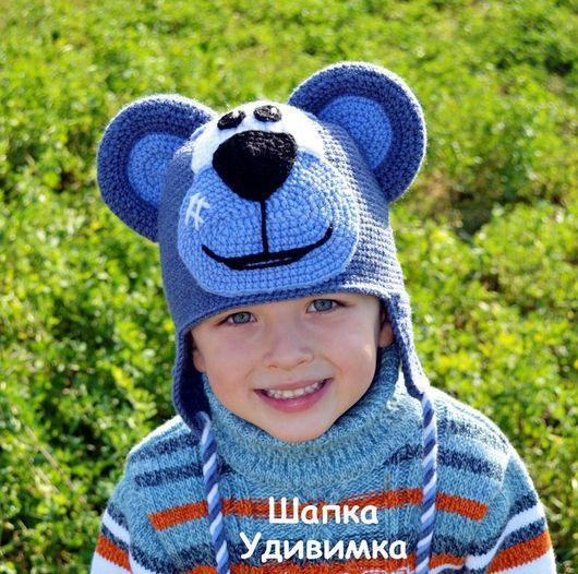 Шапки и шарфы ручной работы. Ярмарка Мастеров - ручная работа. Купить Шапка детская Медведь. Handmade. Медведь, шапка крючком