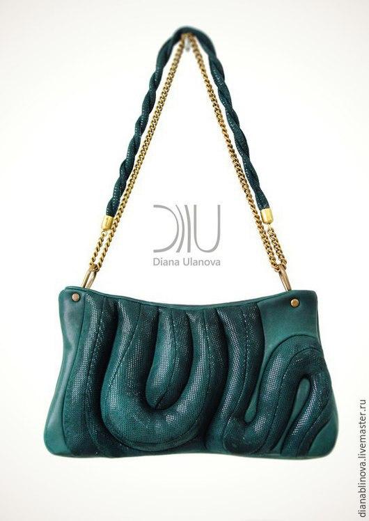 Женские сумки ручной работы. Ярмарка Мастеров - ручная работа. Купить Змейка. Handmade. Разноцветный, тёмно-зелёный